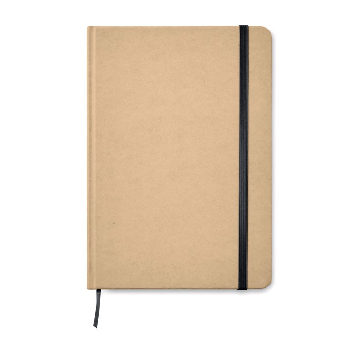 A5 Notebook recycled carton Everwrite - Black