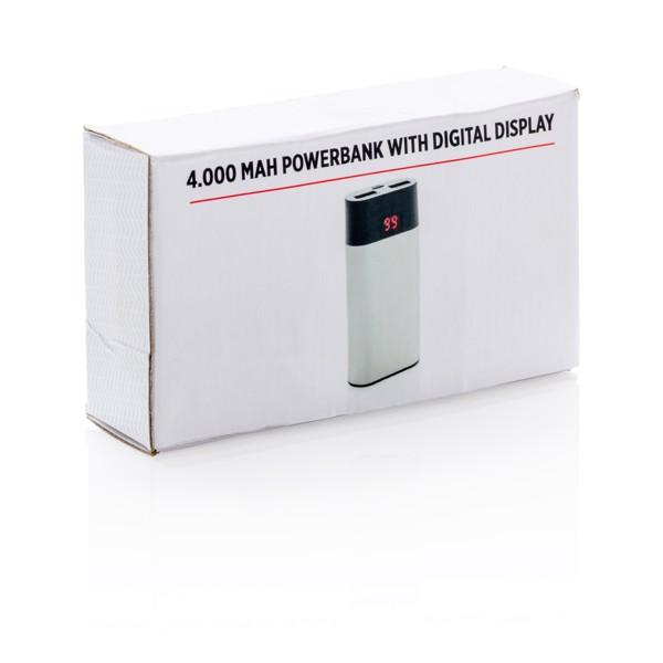 Polnilna baterija z digitalnim zaslonom, 4000 mAh