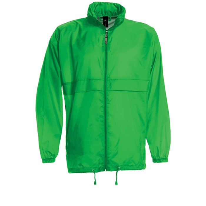 Men's Windbreaker 70 g/m2 Windbreaker Sirocco Ju800 - Real Green / XL