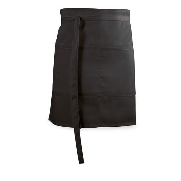 ROSEMARY. Barová zástěra z bavlny a polyesteru - Černá