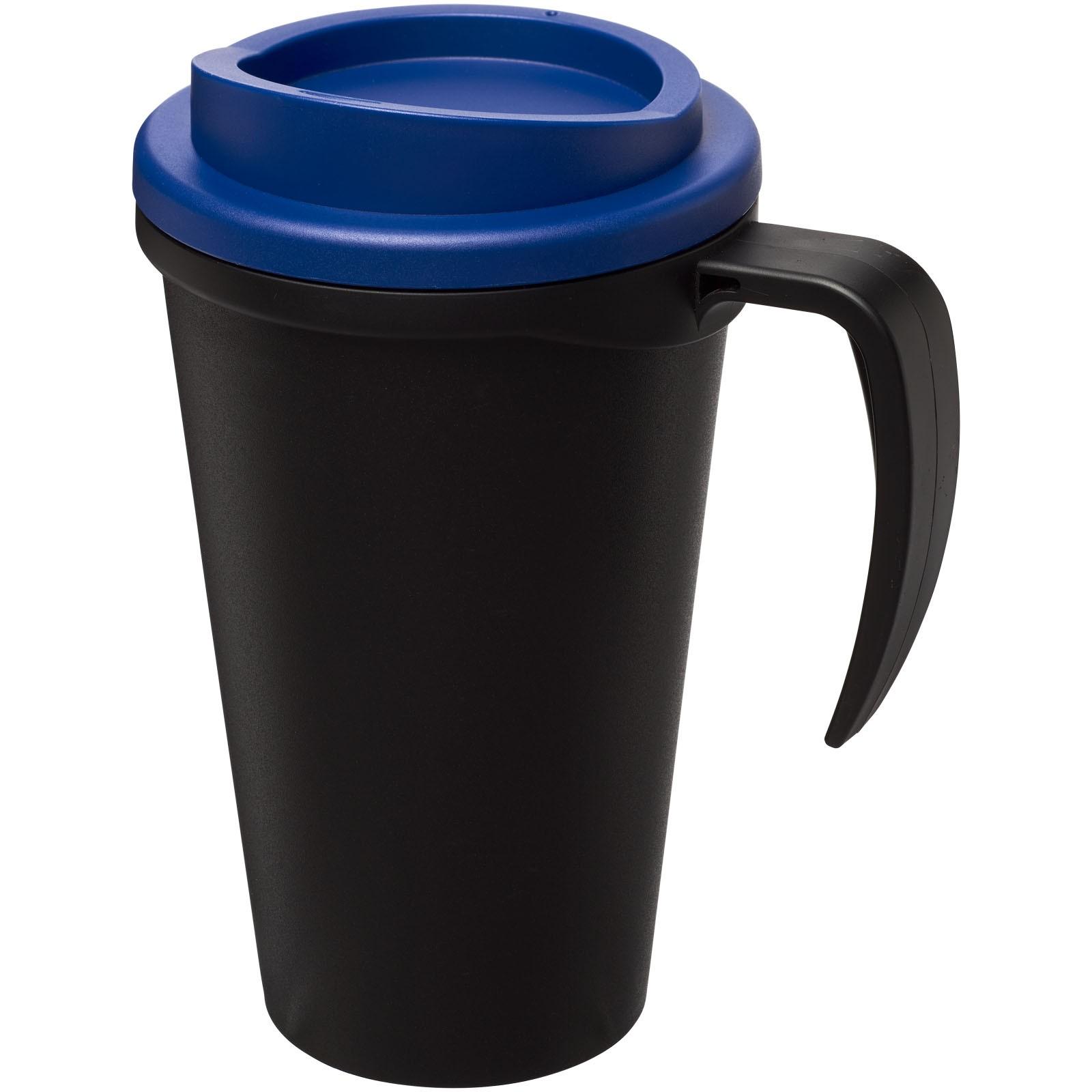 Termo hrnek Americano® grande 350 ml - Černá / Modrá
