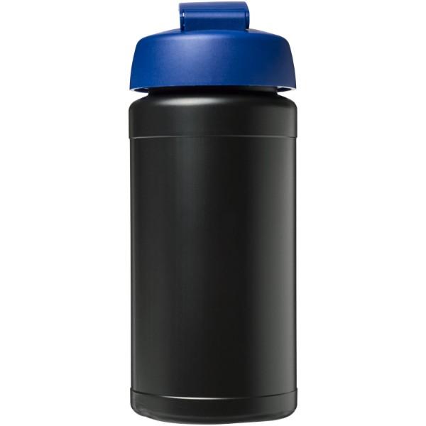 Baseline® Plus 500 ml Sportflasche mit Klappdeckel - Schwarz / Blau