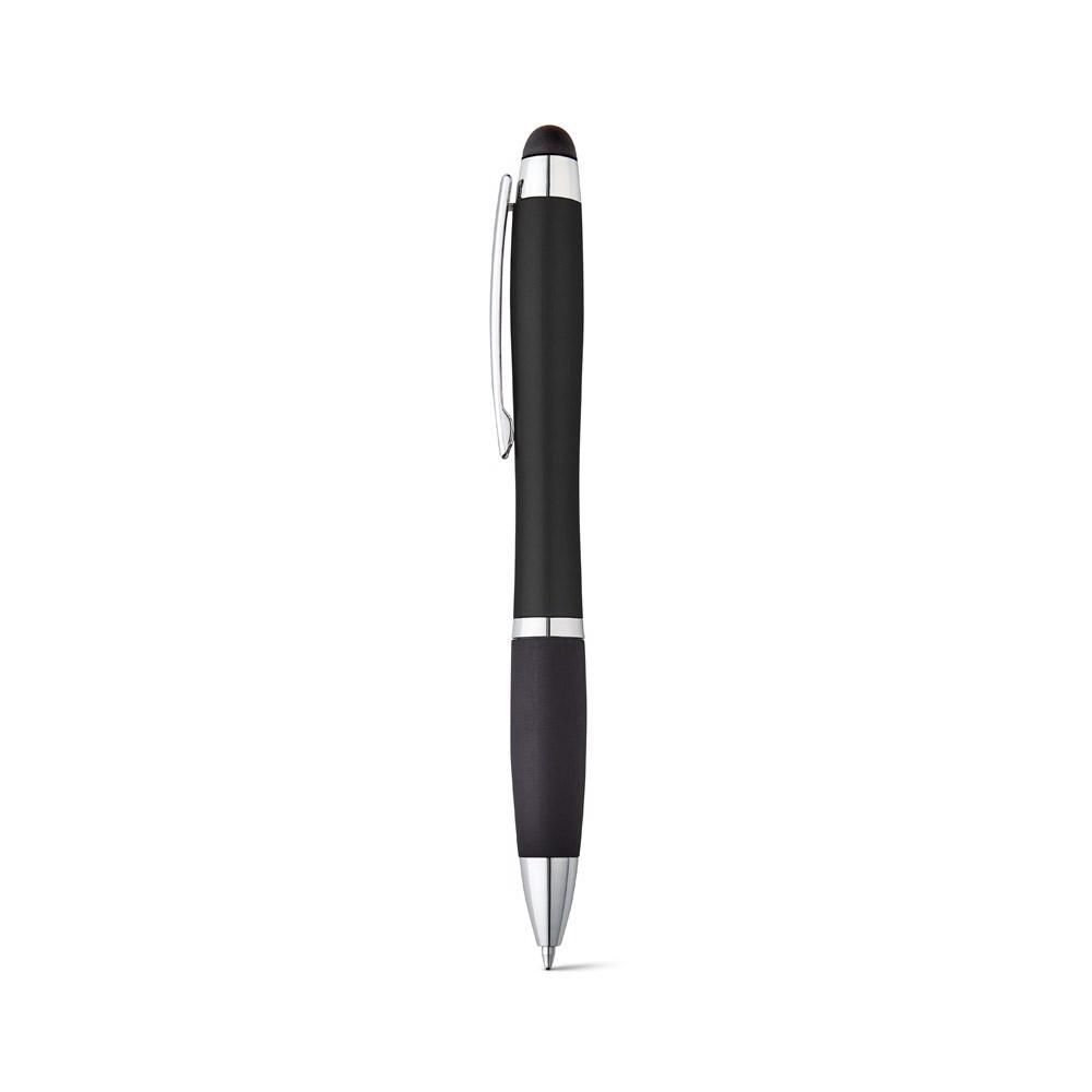HELIOS. Kuličkové pero s podsvíceným logem - Černá