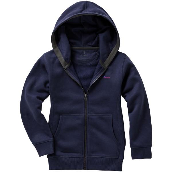 Arora hooded full zip kids sweater - Navy / 140