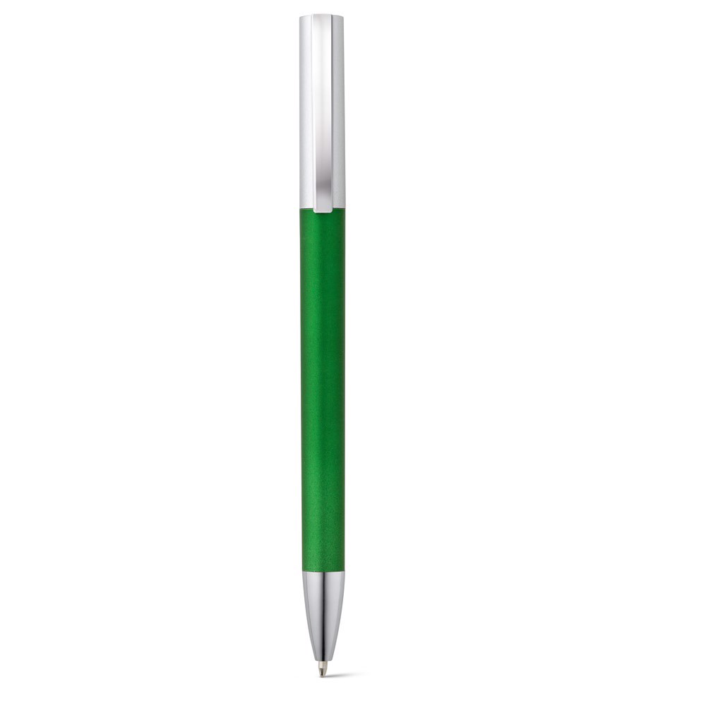 ELBE. Ball pen with metal clip - Green