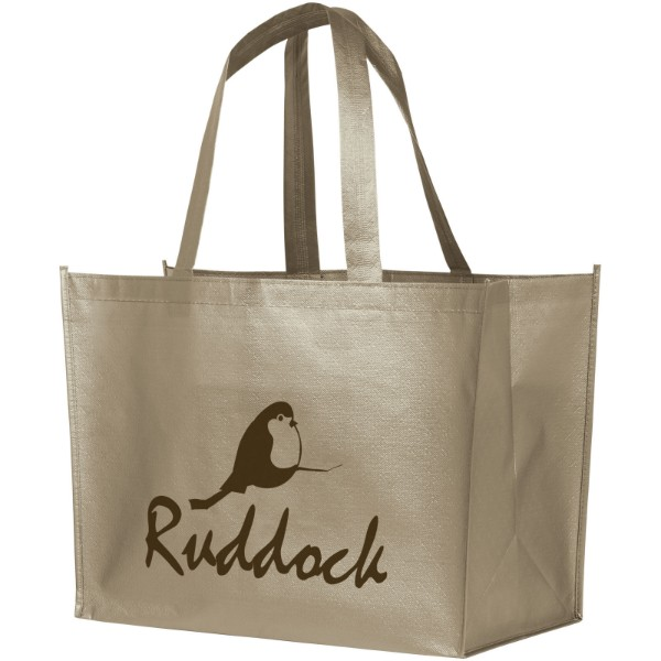 Alloy laminated non-woven shopping tote bag - Nickel