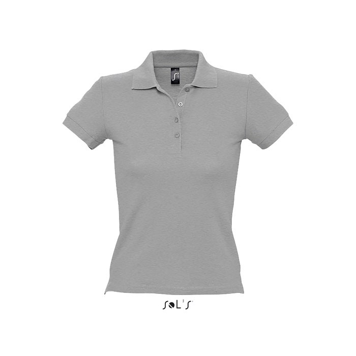 PEOPLE POLO MUJER 210g - gris mezcla / M