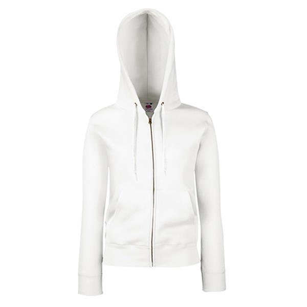 Ladies Premium Hood Jacket - Branco / L