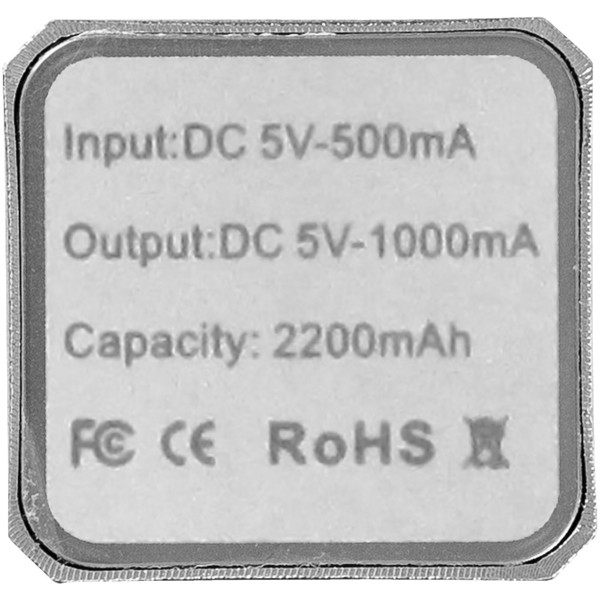 Powerbanka Volt 2200 mAh - Stříbrný