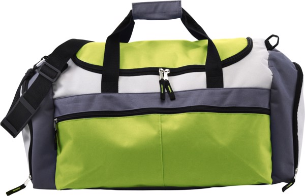 Polyester (600D) sports bag - Lime
