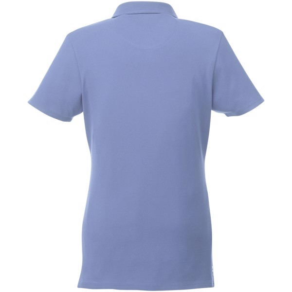 Atkinson short sleeve button-down women's polo - Light blue / XL