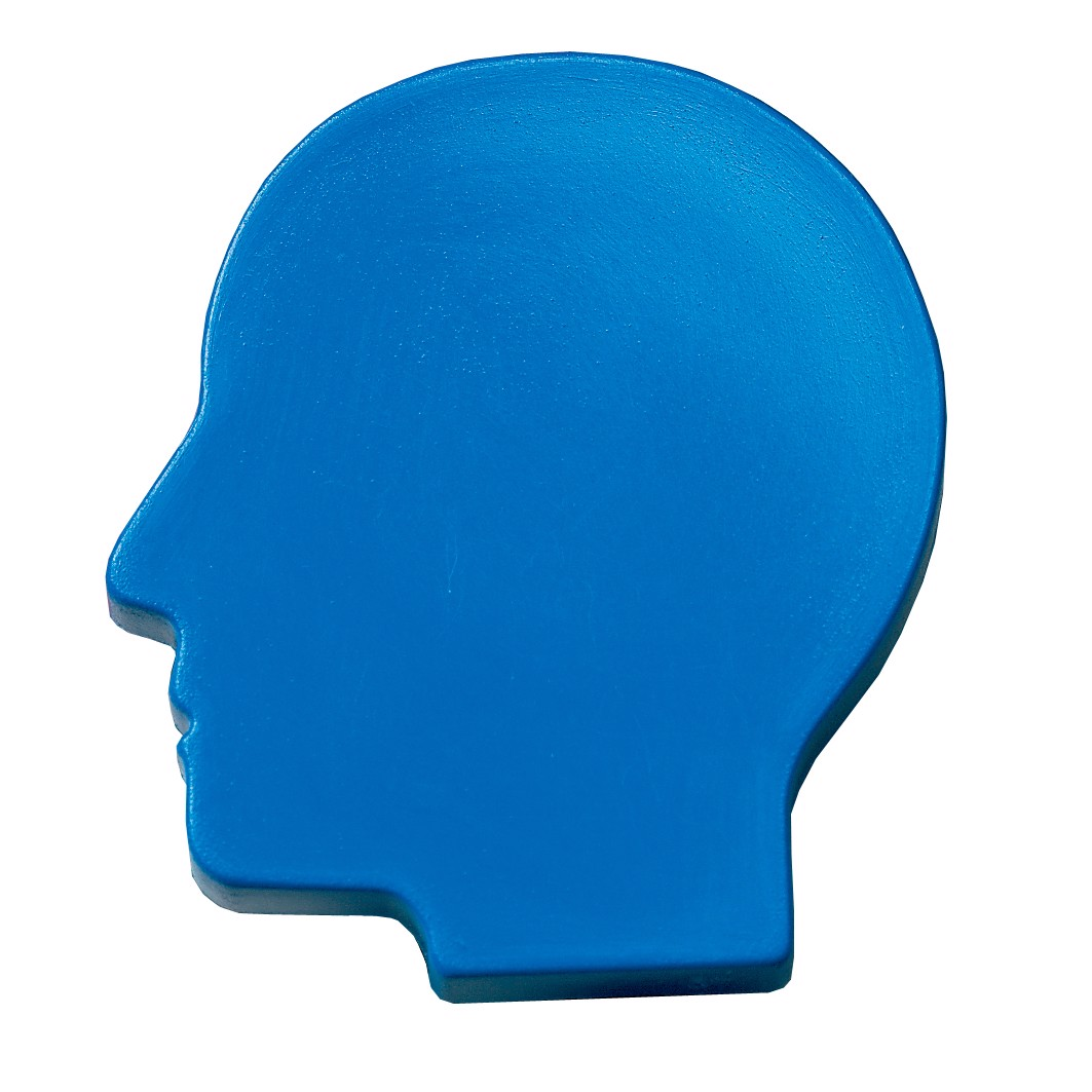 "Magnet ""Head"" - Standard-Blue Ps"