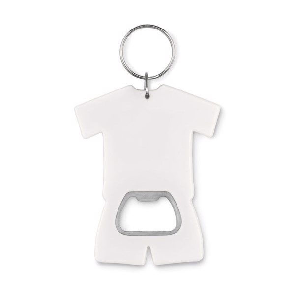 T-shirt bottle opener key ring Camis Key - White