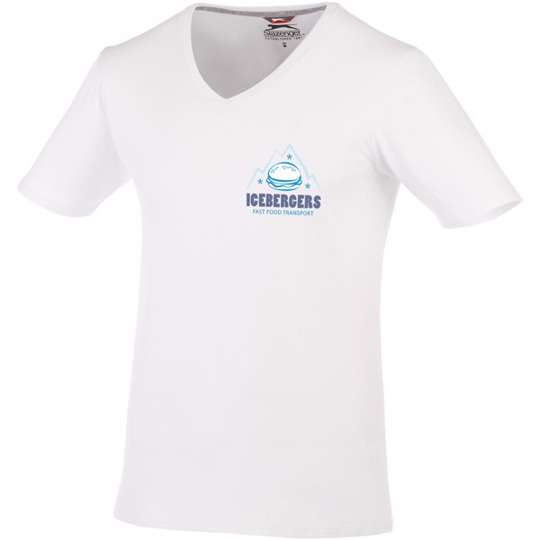 Bosey short sleeve men's v-neck t-shirt - White / XS