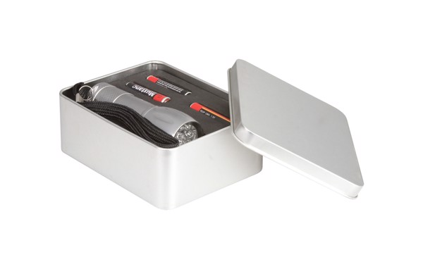 Led Baterka Reflector - Stříbrná