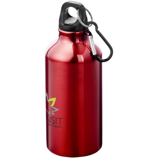 Oregon 400 ml Trinkflasche mit Karabiner - Rot