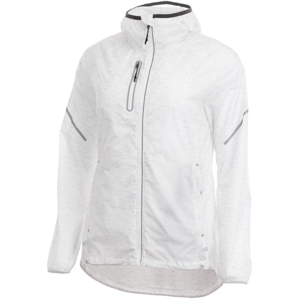 Signal reflective packable ladies jacket - White / L