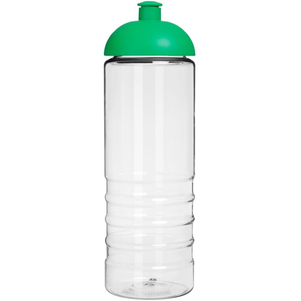 H2O Treble 750 ml sportovní lahev s kupolovitým víčkem - Průhledná / Zelená
