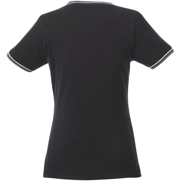 Elbert short sleeve women's pique t-shirt - Solid black / Grey melange / White / XL