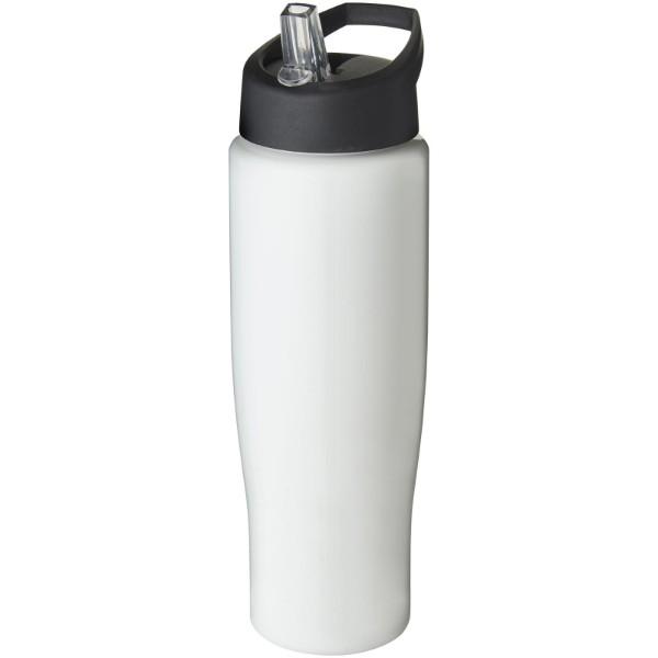 H2O Tempo® Bidón deportivo con tapa con boquilla de 700 ml - Blanco / Negro intenso
