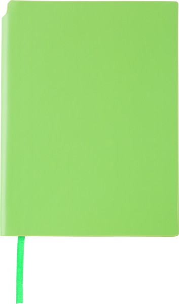 A5 Notebook with pen holder - Lime