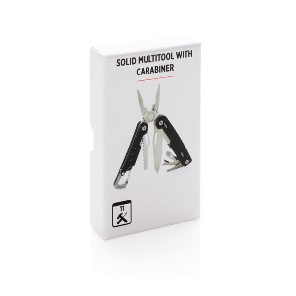 Multifunkční nůž s karabinou Solid - Černá