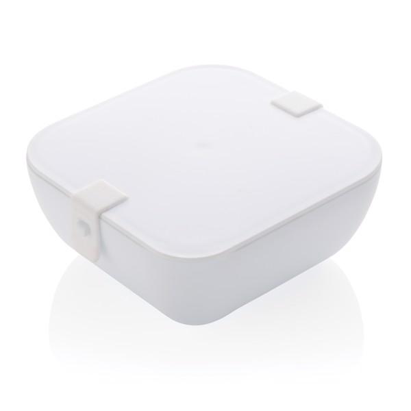 Hranatá krabička na jídlo z PP - Bílá