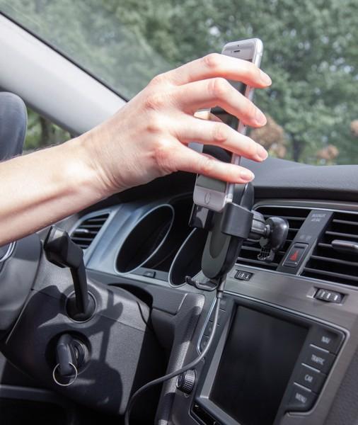 Autós telefontartó 5W-os vezeték nélküli töltővel