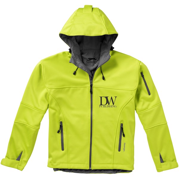 Match softshell jacket - Mid green / S
