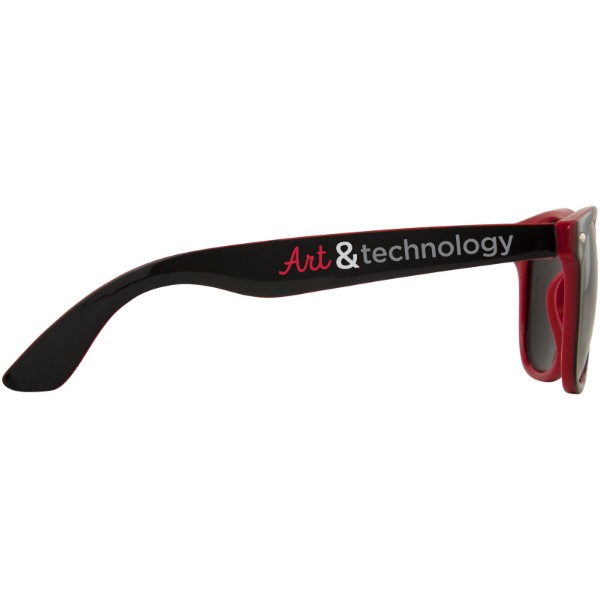 Sluneční brýle Sun Ray s dvoubarevnými odstíny - Červená s efektem námrazy / Černá