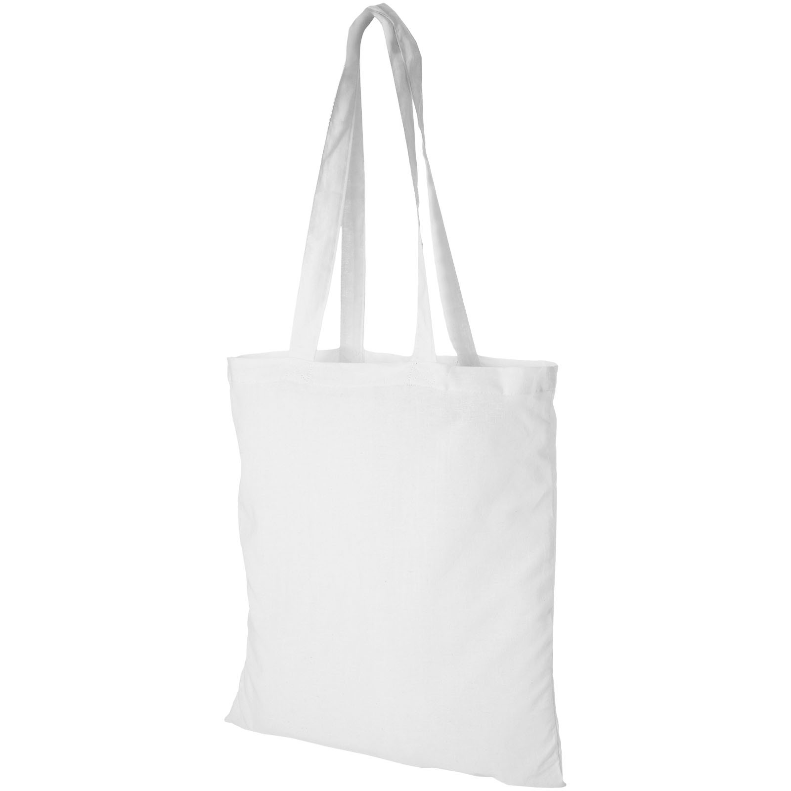 Madras 140 g/m² cotton tote bag - White