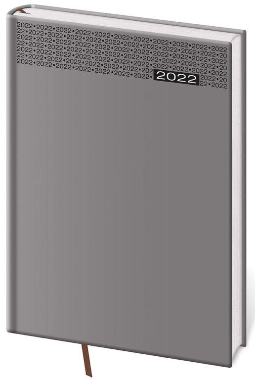 Týdenní diář A5 Gommato šedý 2022
