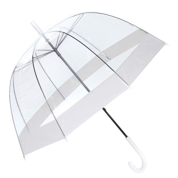 Deštník Ve Tvaru Zvonu Honeymoon / Bílá / Transparentní