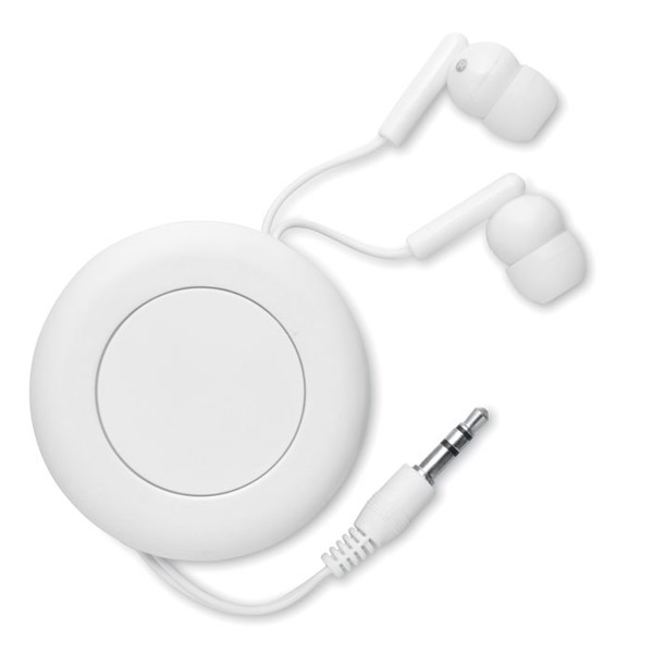 Retractable earphones Sonido - White