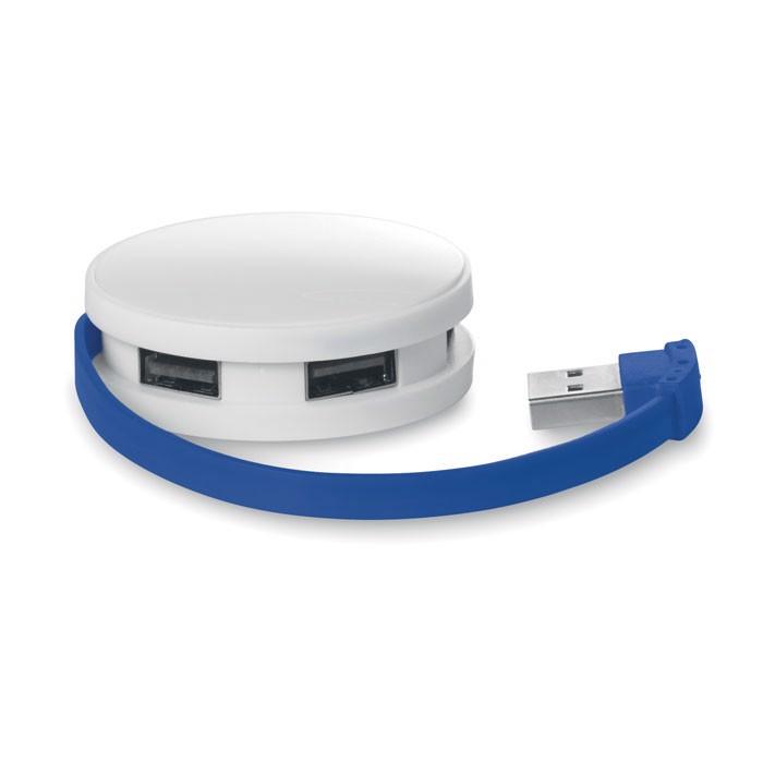 4 port USB hub Roundhub - Royal Blue