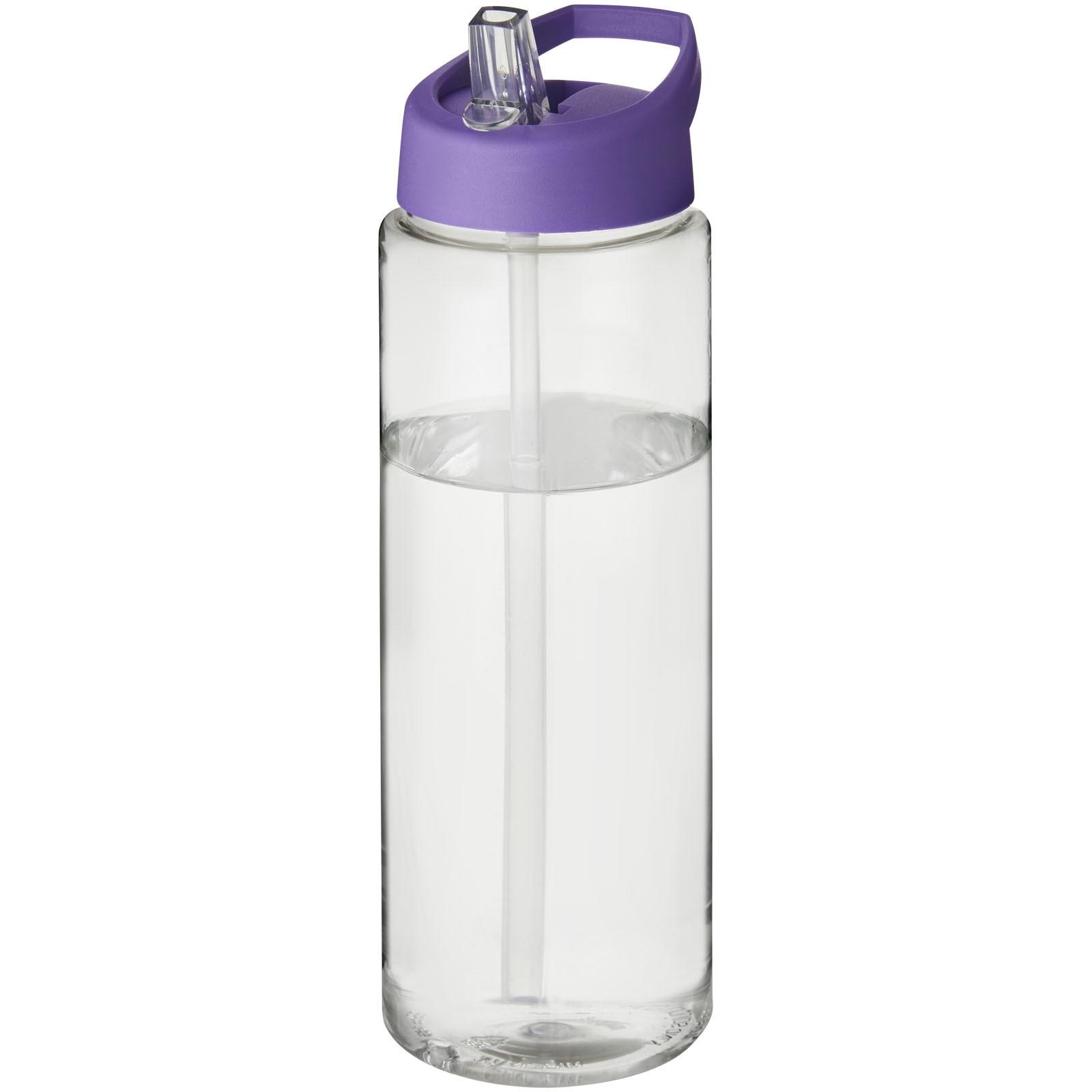 H2O Vibe 850 ml sportovní lahev s víčkem s hubičkou - Průhledná / Purpurová