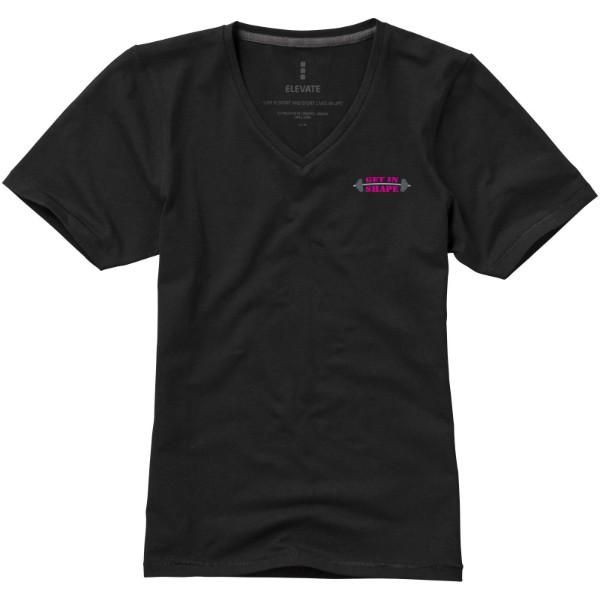 Dámské triko Kawartha s krátkým rukávem, organická bavlna - Černá / M