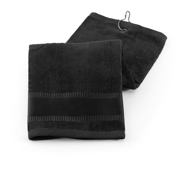GOLFI. Πετσέτα γκολφ - Μαύρο