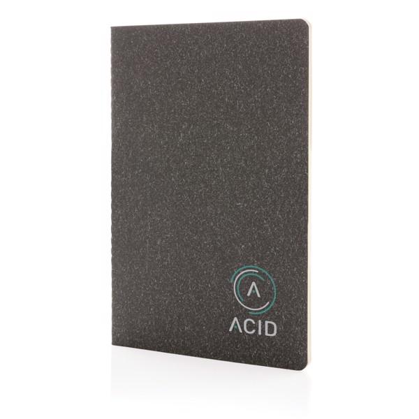 Slim poznámkový blok A5 s měkkou vazbou - Černá