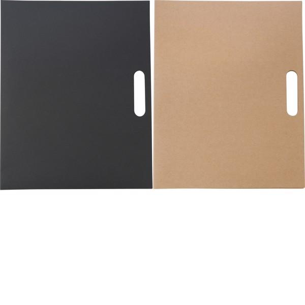 Cardboard memo folder - Black