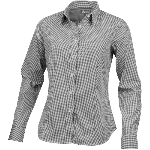Net long sleeve ladies shirt - Grey / XXL