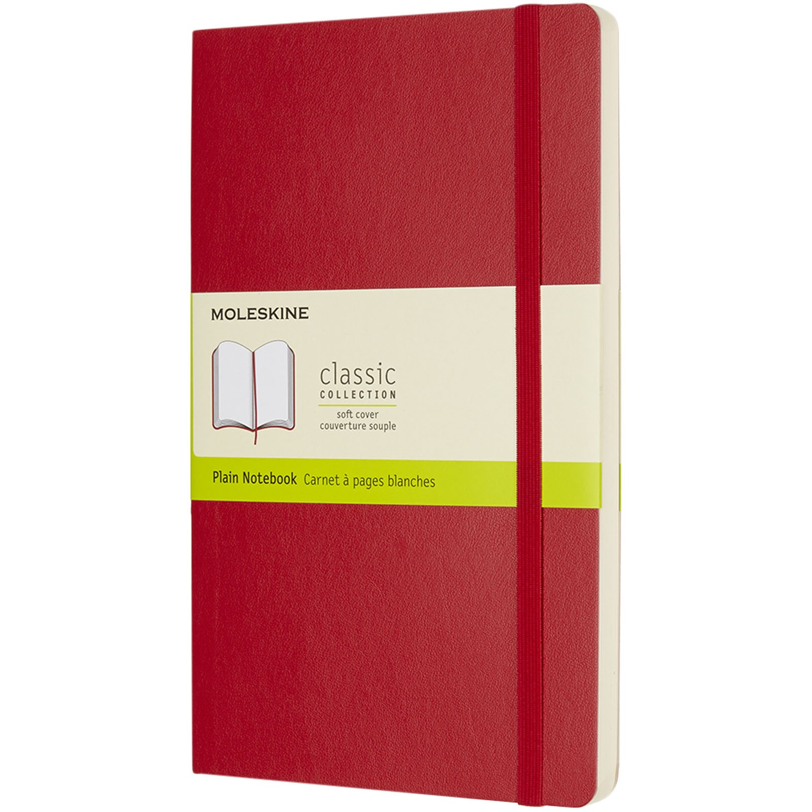 Classic L soft cover notebook - plain - Scarlet red