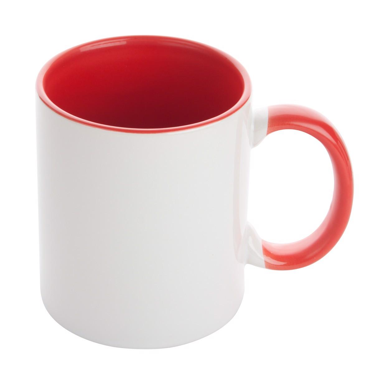 Hrnek Na Sublimaci Harnet - Bílá / Červená