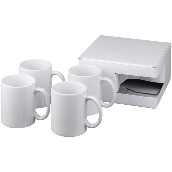 Ceramic mug 4-pieces gift set - White