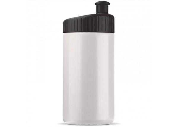Sport bottle design 500ml - White / Black