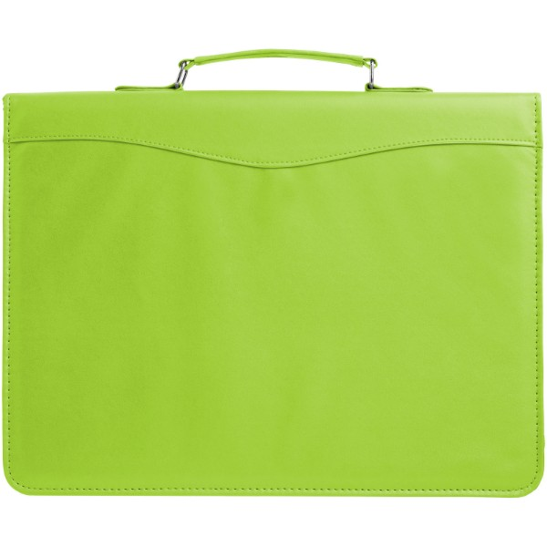 Ebony A4 briefcase portfolio - Apple green