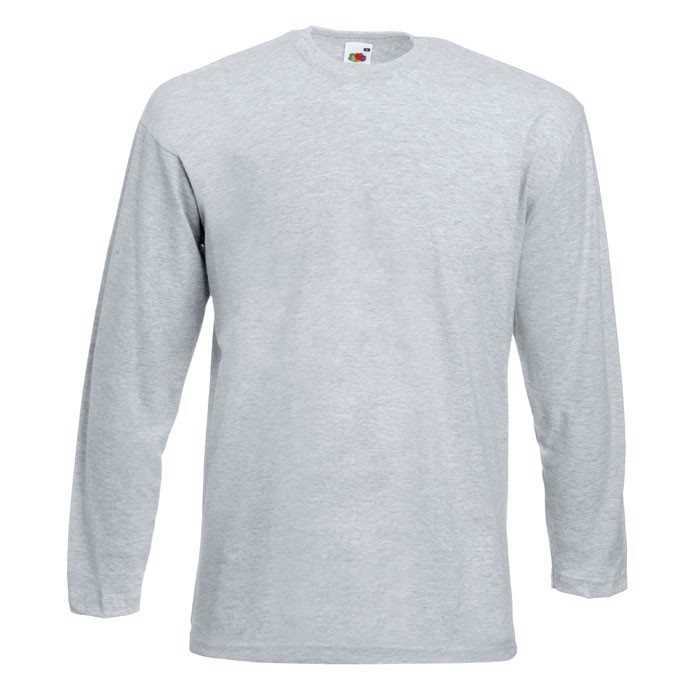 T-shirt 165 g/m² Value Weight Ls 61-038-0 - Grey Heather / XXL