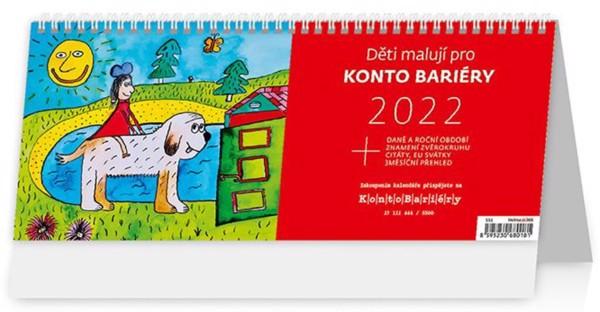 Týdenní kalendář Děti malují Konto Bariéry 2022