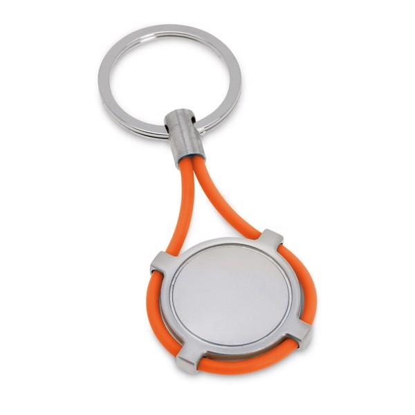 INDURAIN. Kovová klíčenka - Oranžová