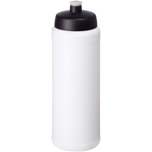 Baseline® Plus grip 750 ml Sportflasche mit Sportdeckel - Weiss / Schwarz